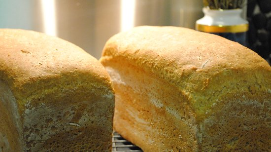 Freshly baked wholemeal bread