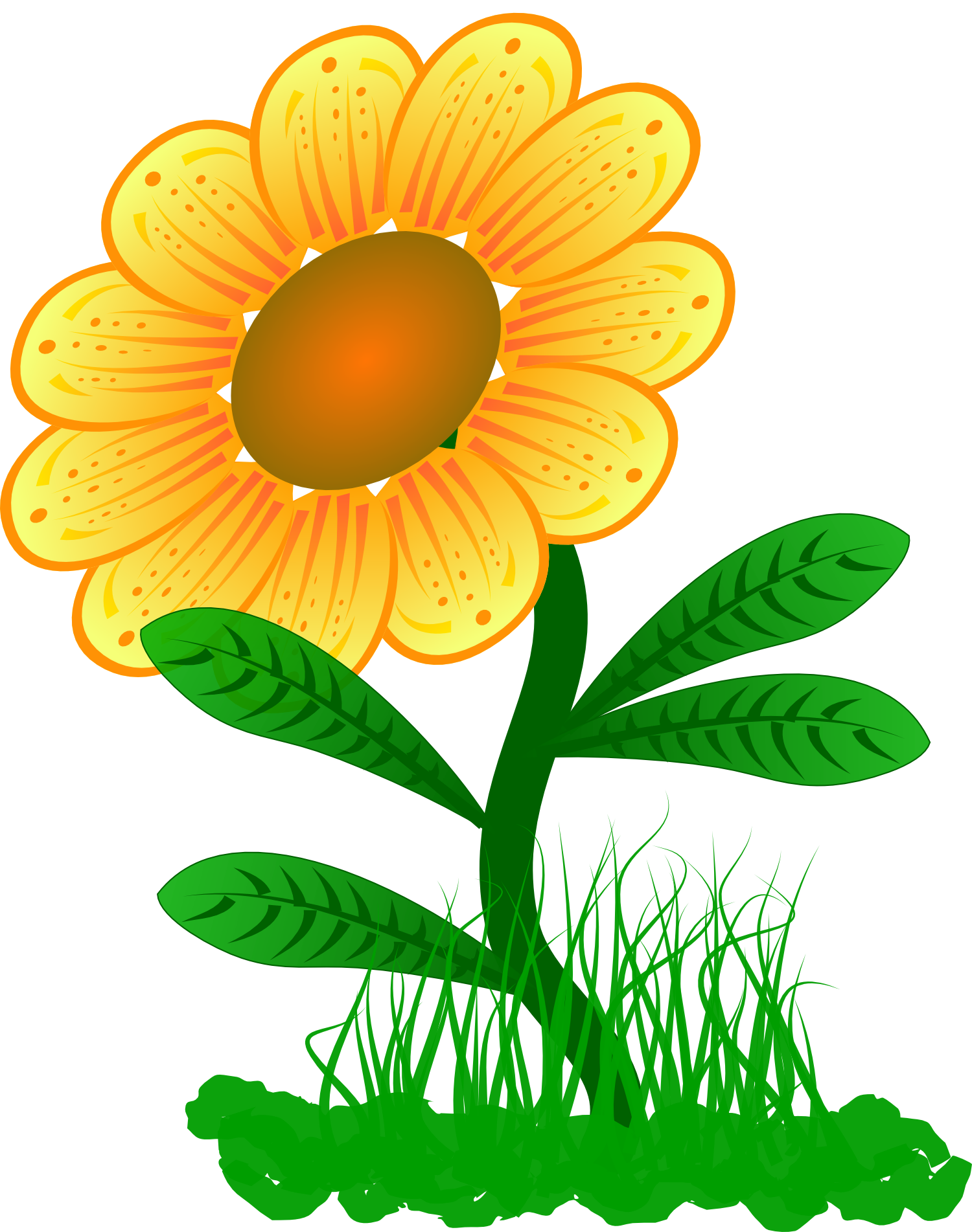 Drawing of a yellow flower